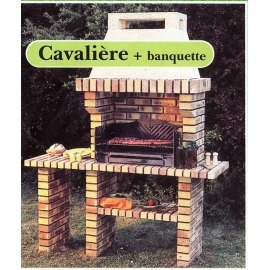 Барбекю Cheminees Philippe Cavaliere + банкетка - Фото
